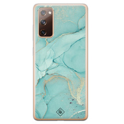 Casimoda Samsung Galaxy S20 FE siliconen hoesje - Touch of mint