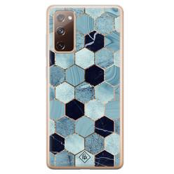 Casimoda Samsung Galaxy S20 FE siliconen hoesje - Blue cubes