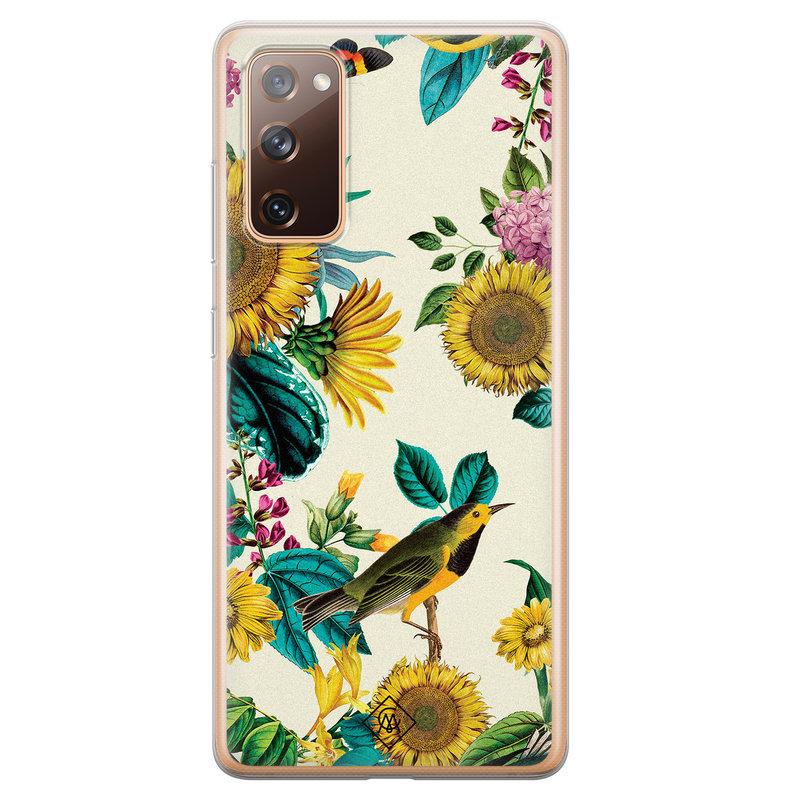 Casimoda Samsung Galaxy S20 FE siliconen hoesje - Sunflowers