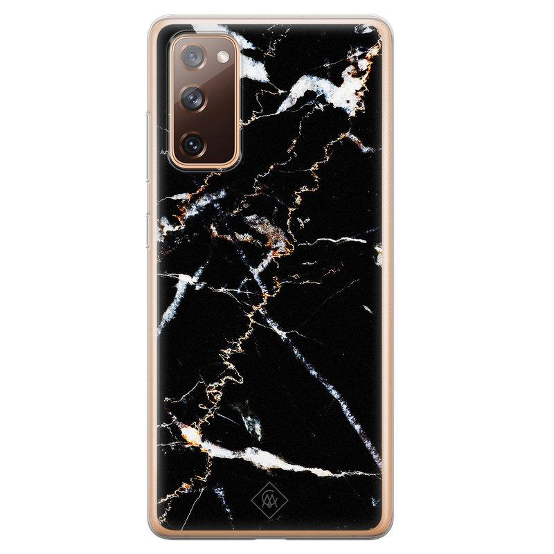 Casimoda Samsung Galaxy S20 FE siliconen hoesje - Marmer zwart