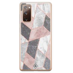 Casimoda Samsung Galaxy S20 FE siliconen hoesje - Stone grid