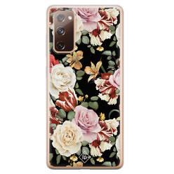 Casimoda Samsung Galaxy S20 FE siliconen hoesje - Flowerpower