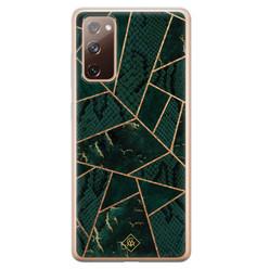 Casimoda Samsung Galaxy S20 FE siliconen hoesje - Abstract groen