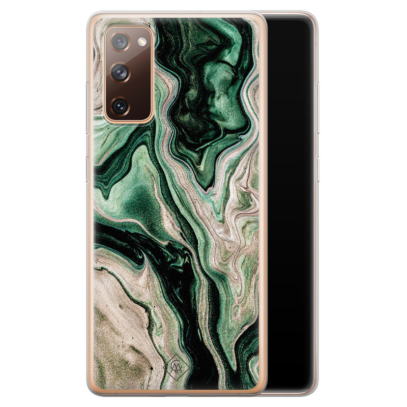 Casimoda Samsung Galaxy S20 FE siliconen hoesje - Green waves