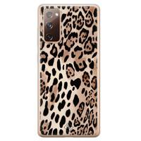 Casimoda Samsung Galaxy S20 FE siliconen hoesje - Golden wildcat