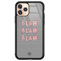 Casimoda iPhone 11 Pro glazen hardcase - Blah blah blah