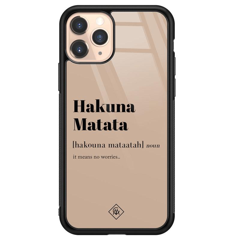 Casimoda iPhone 11 Pro glazen hardcase - Hakuna Matata