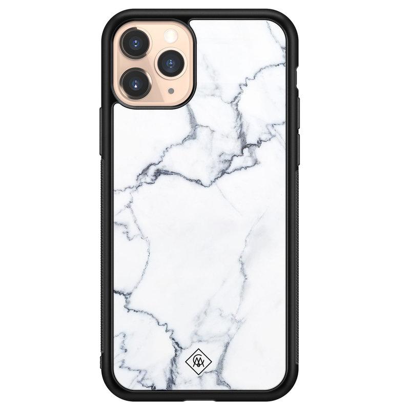 Casimoda iPhone 11 Pro glazen hardcase - Marmer grijs