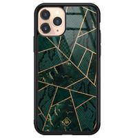 Casimoda iPhone 11 Pro glazen hardcase - Abstract groen