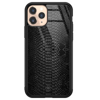 Casimoda iPhone 11 Pro glazen hardcase - Black snake
