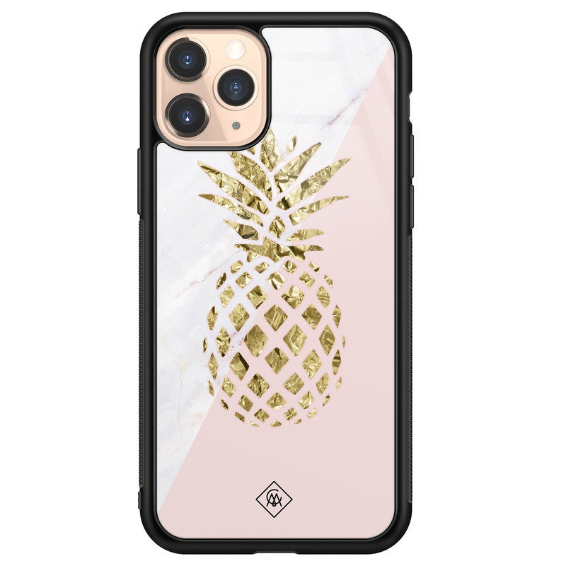 Casimoda iPhone 11 Pro glazen hardcase - Ananas