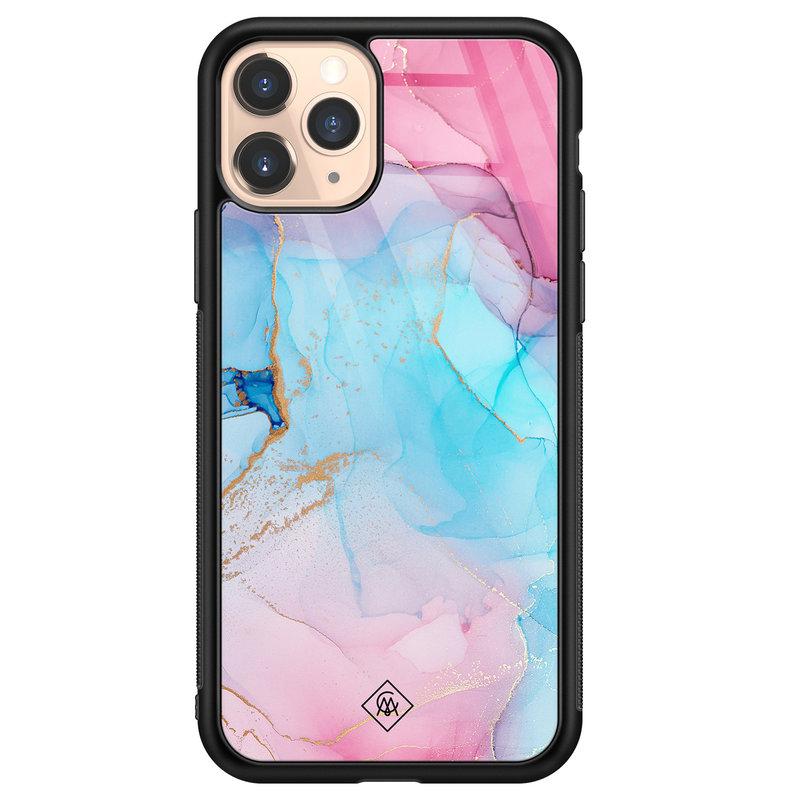 Casimoda iPhone 11 Pro glazen hardcase - Marble colorbomb
