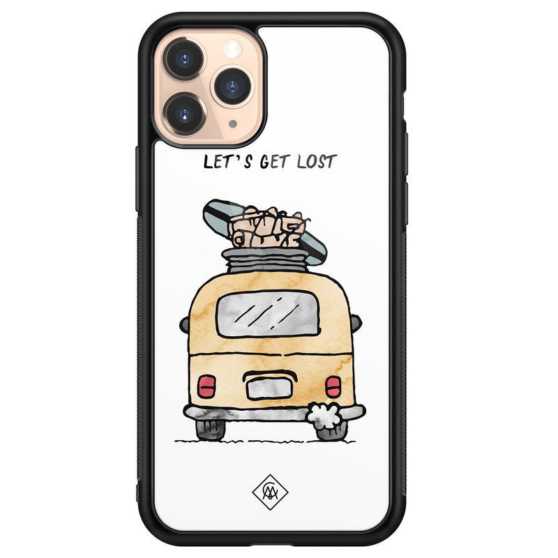 Casimoda iPhone 11 Pro glazen hardcase - Let's get lost