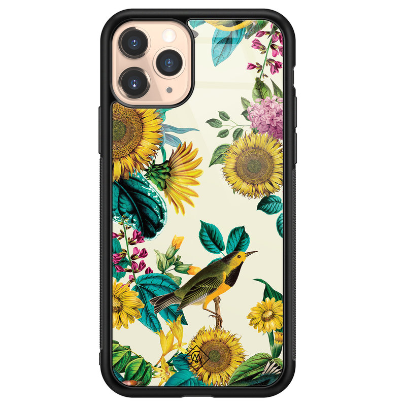 Casimoda iPhone 11 Pro glazen hardcase - Sunflowers