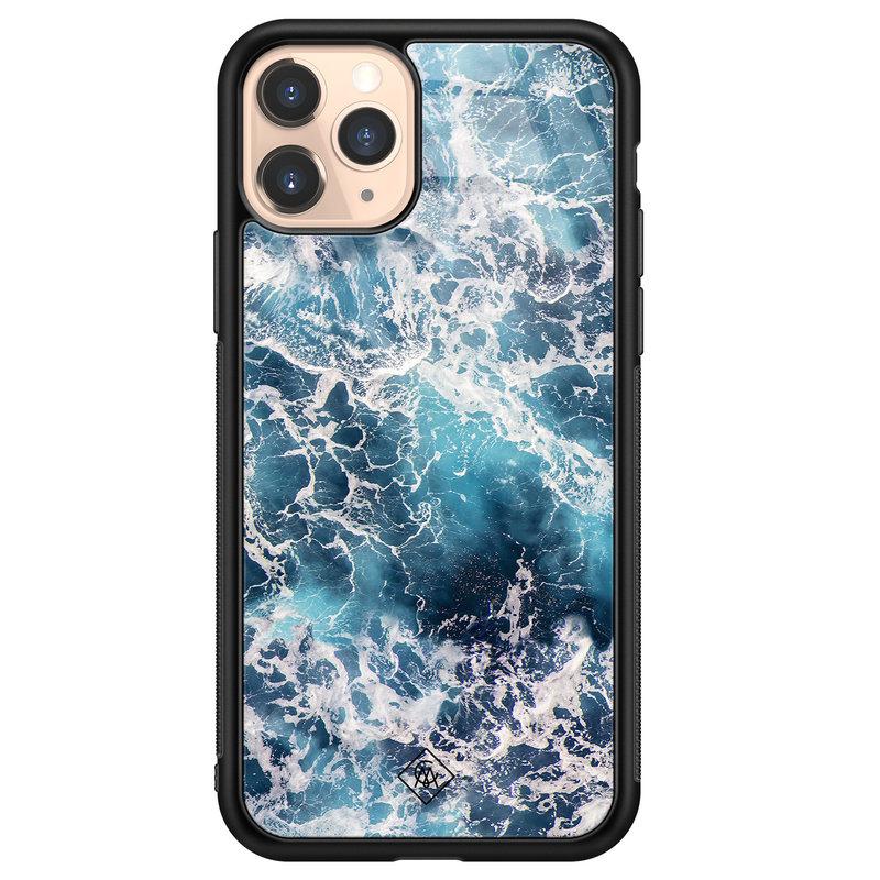 Casimoda iPhone 11 Pro glazen hardcase - Oceaan