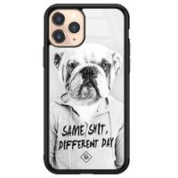 Casimoda iPhone 11 Pro glazen hardcase - Bulldog
