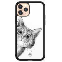 Casimoda iPhone 11 Pro glazen hardcase - Peekaboo