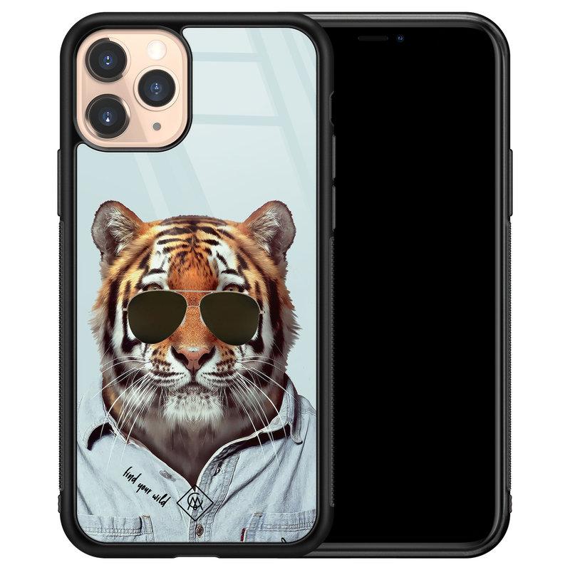 Casimoda iPhone 11 Pro glazen hardcase - Tijger wild