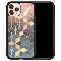 Casimoda iPhone 11 Pro glazen hardcase - Cubes art