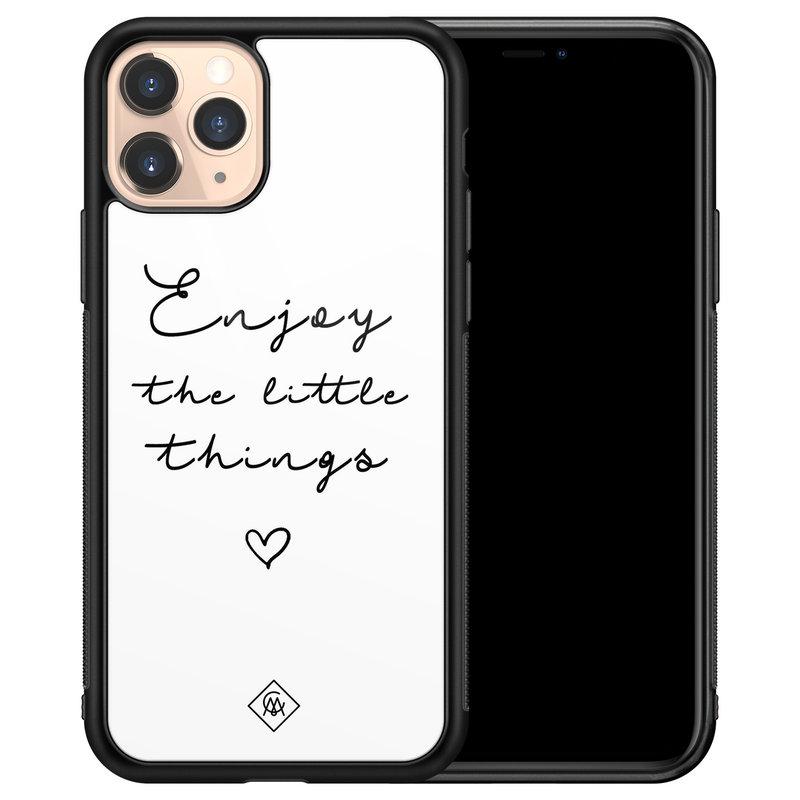 Casimoda iPhone 11 Pro glazen hardcase - Enjoy life
