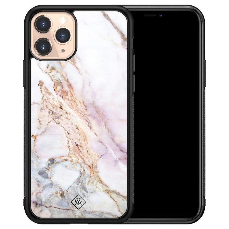 Casimoda iPhone 11 Pro glazen hardcase - Parelmoer marmer