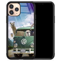 Casimoda iPhone 11 Pro glazen hardcase - Lama adventure