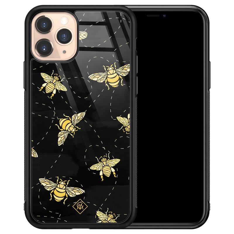 Casimoda iPhone 11 Pro glazen hardcase - Bee yourself