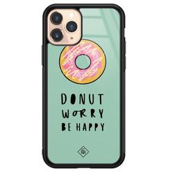 Casimoda iPhone 11 Pro glazen hardcase - Donut worry