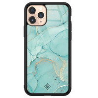 Casimoda iPhone 11 Pro glazen hardcase - Touch of mint