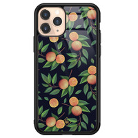 Casimoda iPhone 11 Pro glazen hardcase - Orange lemonade