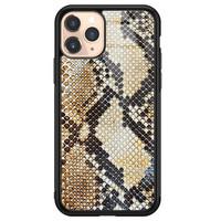 Casimoda iPhone 11 Pro glazen hardcase - Golden snake