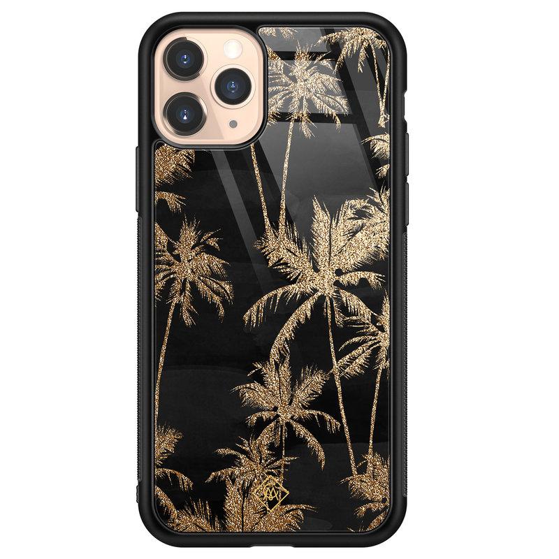 Casimoda iPhone 11 Pro glazen hardcase - Palmbomen