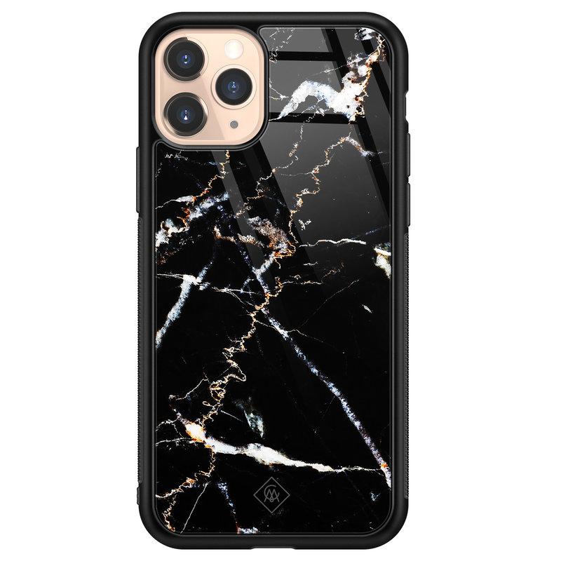Casimoda iPhone 11 Pro glazen hardcase - Marmer zwart