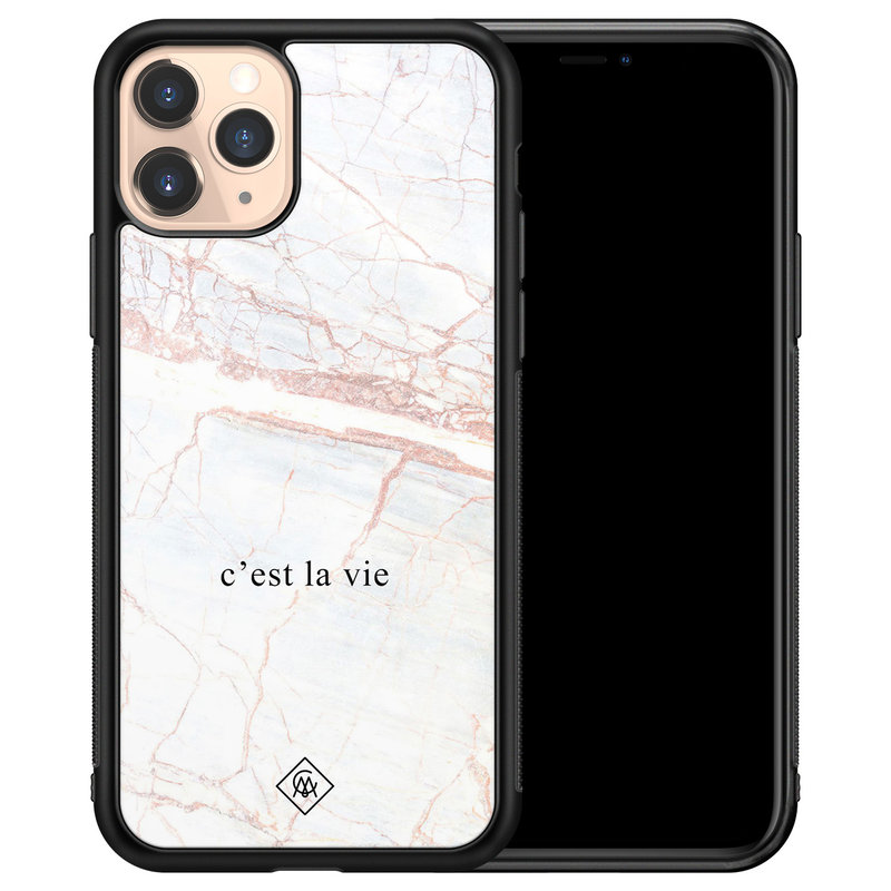 Casimoda iPhone 11 Pro glazen hardcase - C'est la vie