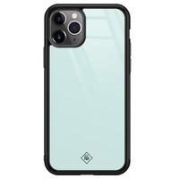 Casimoda iPhone 11 Pro Max glazen hardcase - Pastel blauw