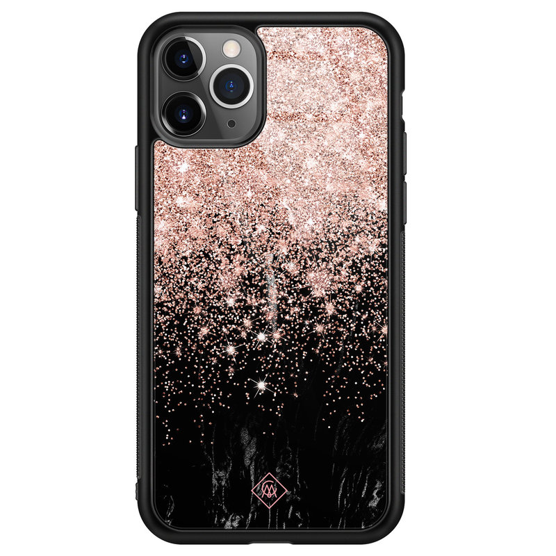 Casimoda iPhone 11 Pro Max glazen hardcase - Marmer twist