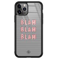 Casimoda iPhone 11 Pro Max glazen hardcase - Blah blah blah