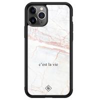 Casimoda iPhone 11 Pro Max glazen hardcase - C'est la vie