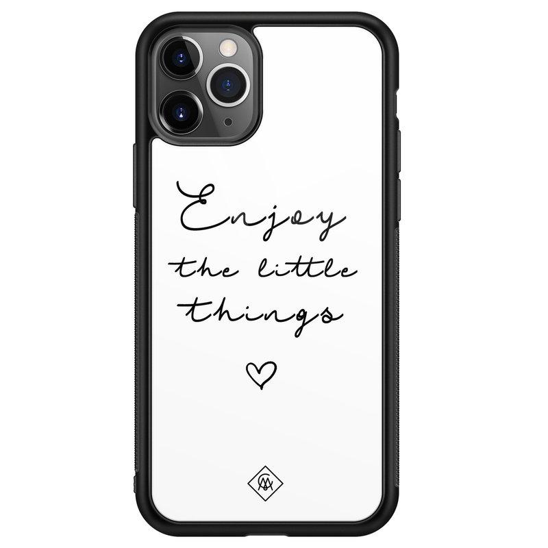 Casimoda iPhone 11 Pro Max glazen hardcase - Enjoy life