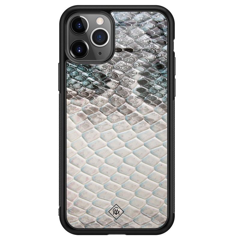 Casimoda iPhone 11 Pro Max glazen hardcase - Oh my snake
