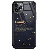 Casimoda iPhone 11 Pro Max glazen hardcase - Family is everything