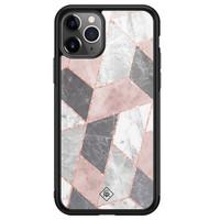 Casimoda iPhone 11 Pro Max glazen hardcase - Stone grid