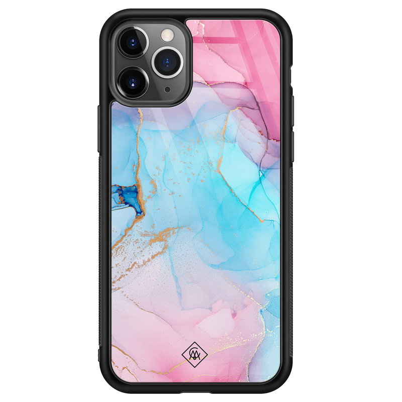 Casimoda iPhone 11 Pro Max glazen hardcase - Marble colorbomb