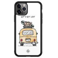 Casimoda iPhone 11 Pro Max glazen hardcase - Let's get lost