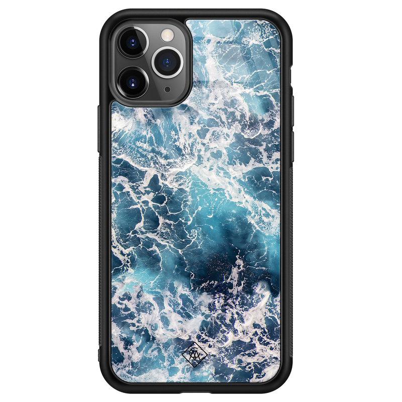 Casimoda iPhone 11 Pro Max glazen hardcase - Oceaan