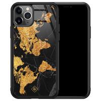 Casimoda iPhone 11 Pro Max glazen hardcase - Wereldkaart