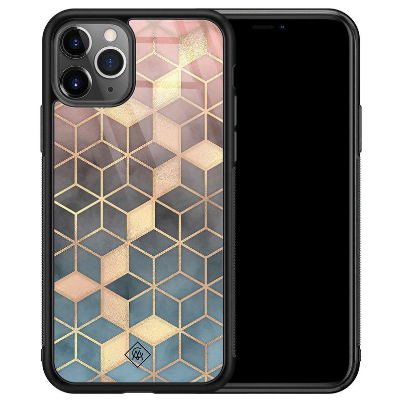 Casimoda iPhone 11 Pro Max glazen hardcase - Cubes art