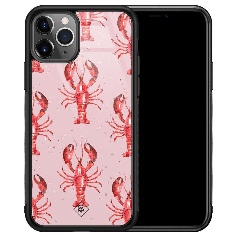 Casimoda iPhone 11 Pro Max glazen hardcase - Lobster all the way