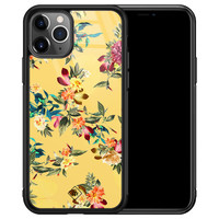 Casimoda iPhone 11 Pro Max glazen hardcase - Florals for days