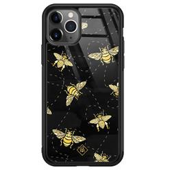 Casimoda iPhone 11 Pro Max glazen hardcase - Bee yourself